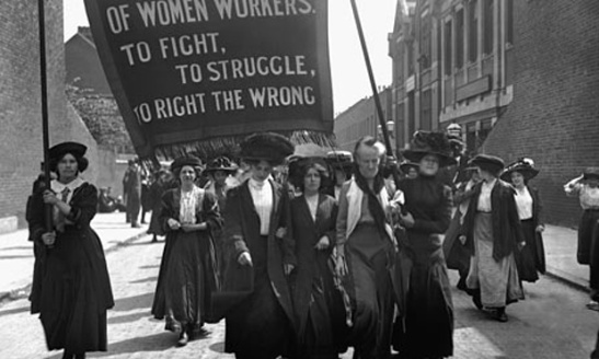 Suffragette-March of the women … a suffragette protest in London, 1911.